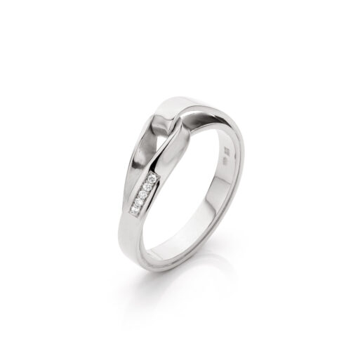 Endless love in zilver met diamant, Nicoline van Boven