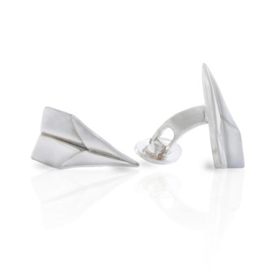 Manchetknopen vliegtuigjes zilver
