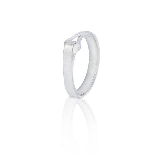Lemniscaat ring zilver