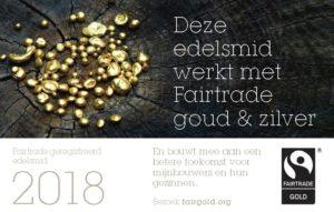 Fairtrade goud geregistreerd edelsmid Nicoline van Boven