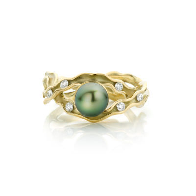 panta rhei ring met tahiti parel en diamant