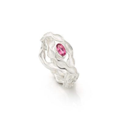 Panta Rhei ring met roze toermalijn