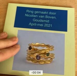 Panta Rhei ring in opdracht, Nicoline van Boven, juweelontwerpster