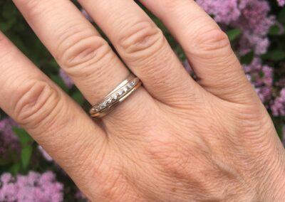 Ring gemaakt van 2 oude trouwringen, Nicoline van Boven